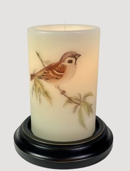 C R Designs Tree Sparrow Candle Sleeve