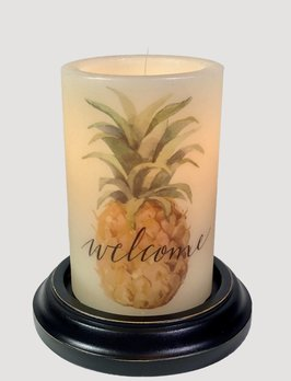 C R Designs Welcome Pineapple Candle Sleeve