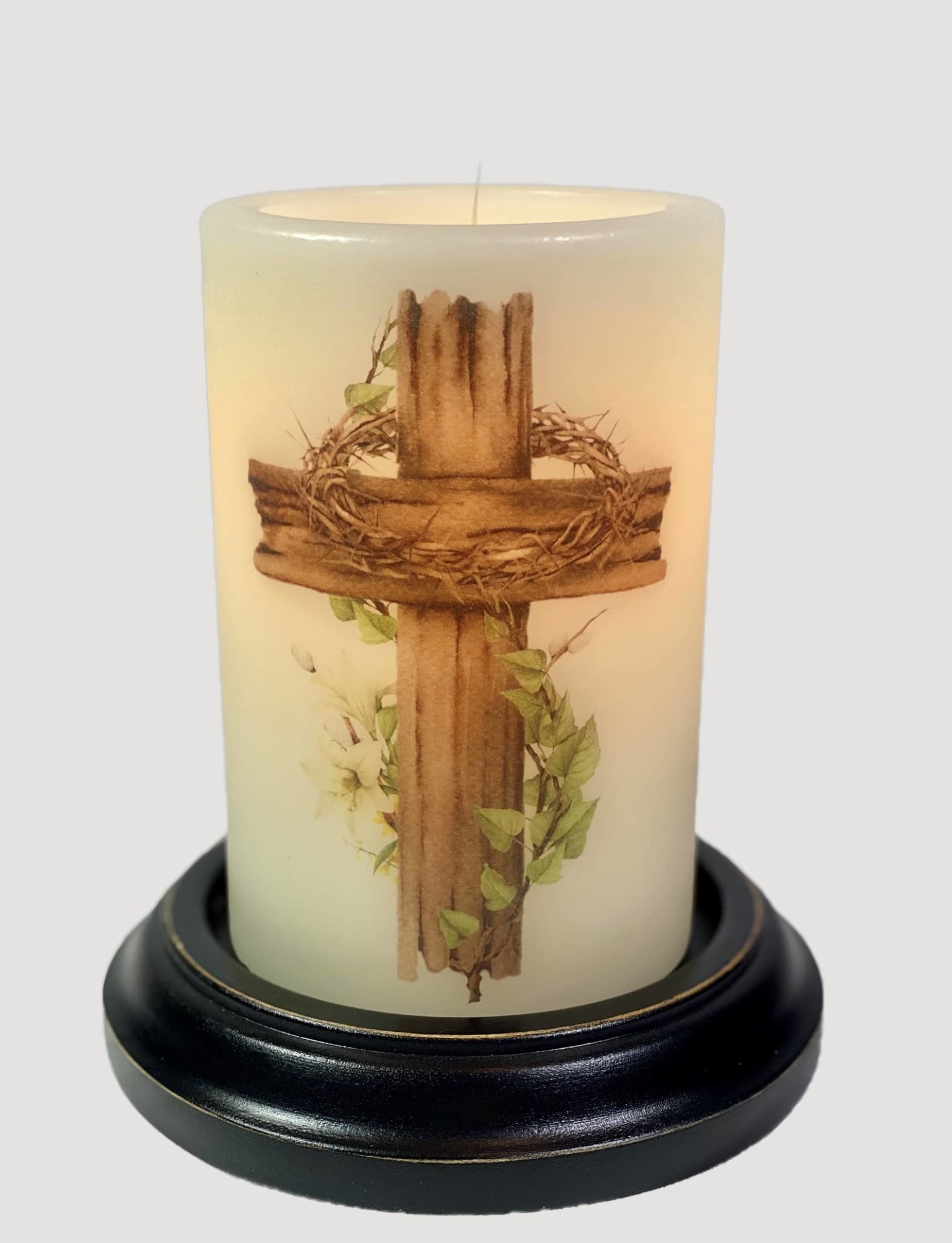 C R Designs Rugged Cross Candle Sleeve