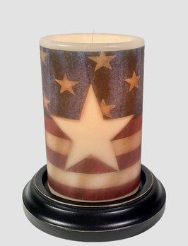 C R Designs Americana Star Antique Vanilla Candle Sleeve