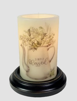 C R Designs Simply Blessed Coffee Pot Candle Sleeve