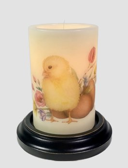 C R Designs Spring Chick & Eggs Candle Sleeve