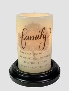 C R Designs Family Tree Roots Candle Sleeve
