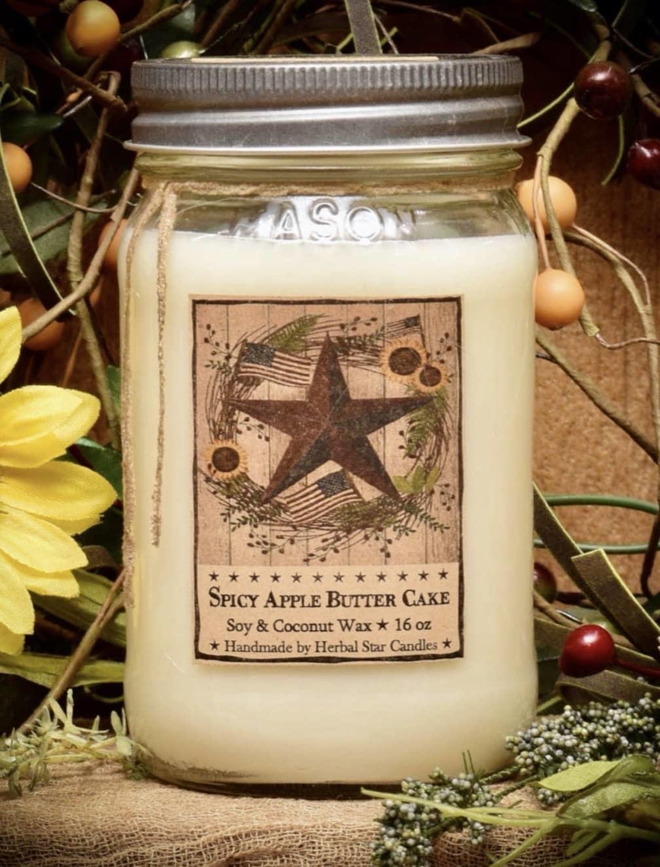 Herbal Star Candles Barn Star Spice Soy Jar Candle - 16oz