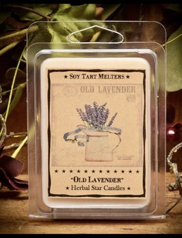 Herbal Star Candles Old Lavender Mini Pack of Tarts