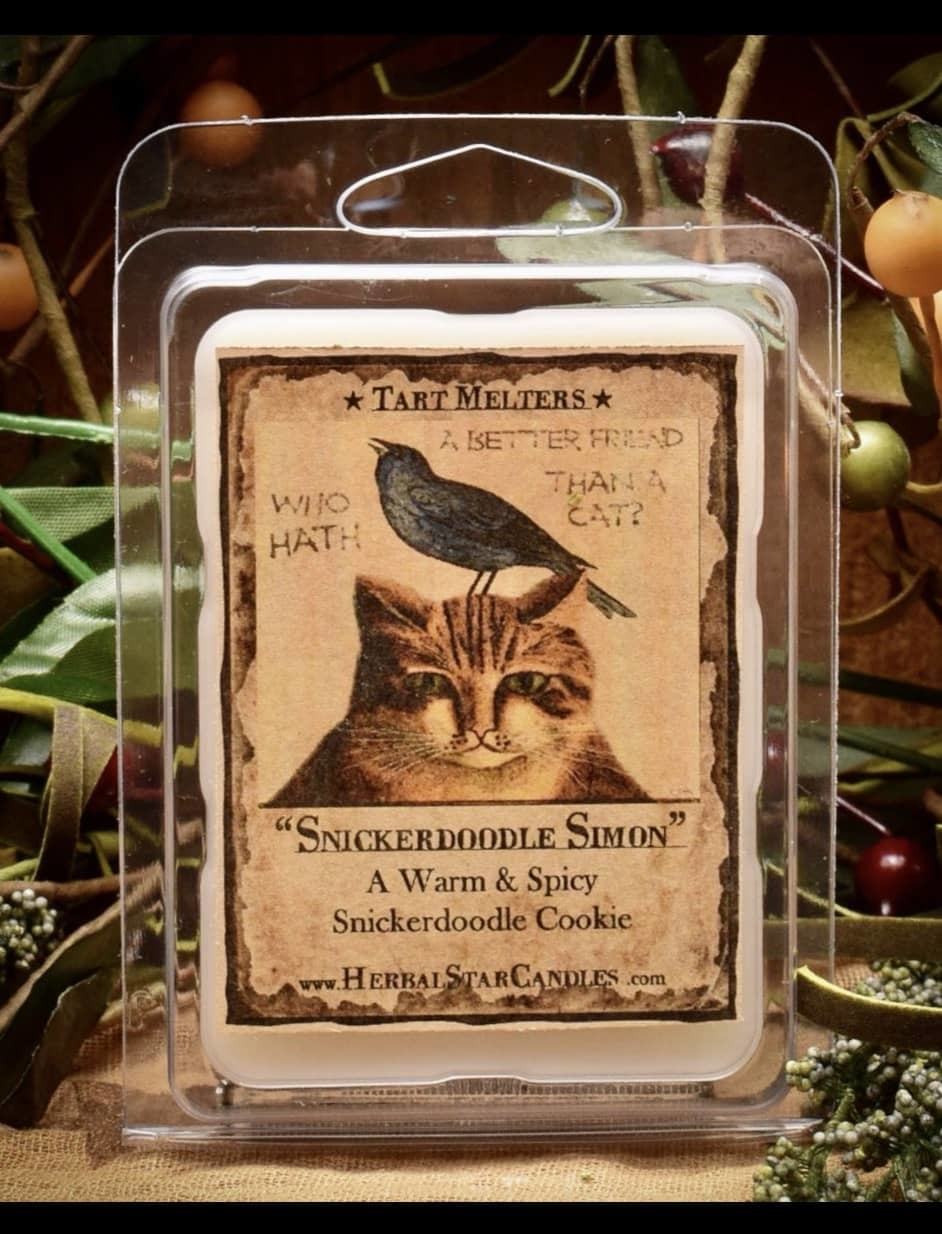 Herbal Star Candles Snickerdoodle Simon Cookie Mini Pack of Tarts