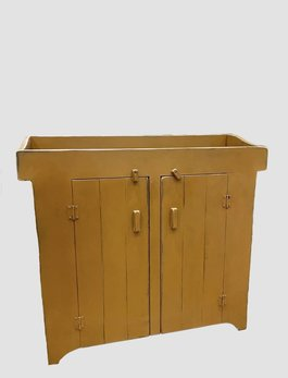 Nana's Farmhouse Primitive Dry Sink in Dark Mustard