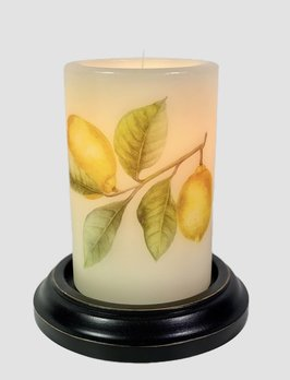 C R Designs Lemons Candle Sleeve