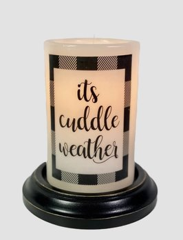 C R Designs It's Cuddle Weather Black Candle Sleeve