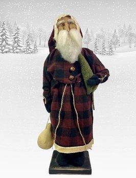Nana's Farmhouse Primitive Santa Buffalo Check Coat