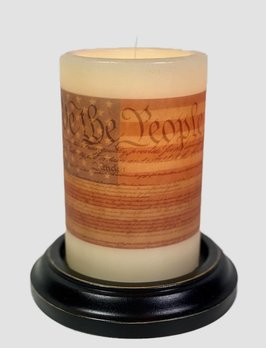 C R Designs We The People Candle Sleeve
