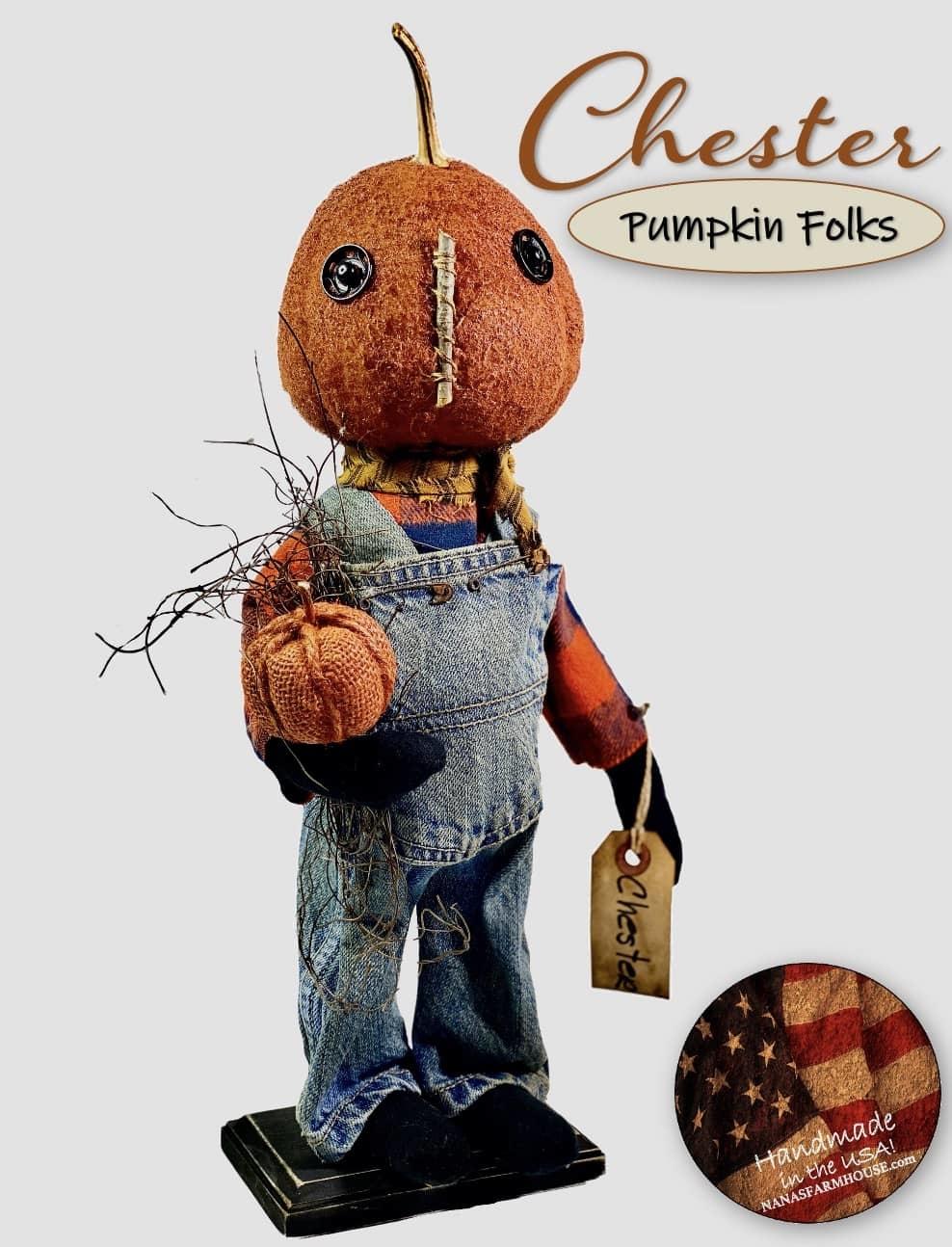 "Nana's Farmhouse Chester The Pumpkin Doll -17"""