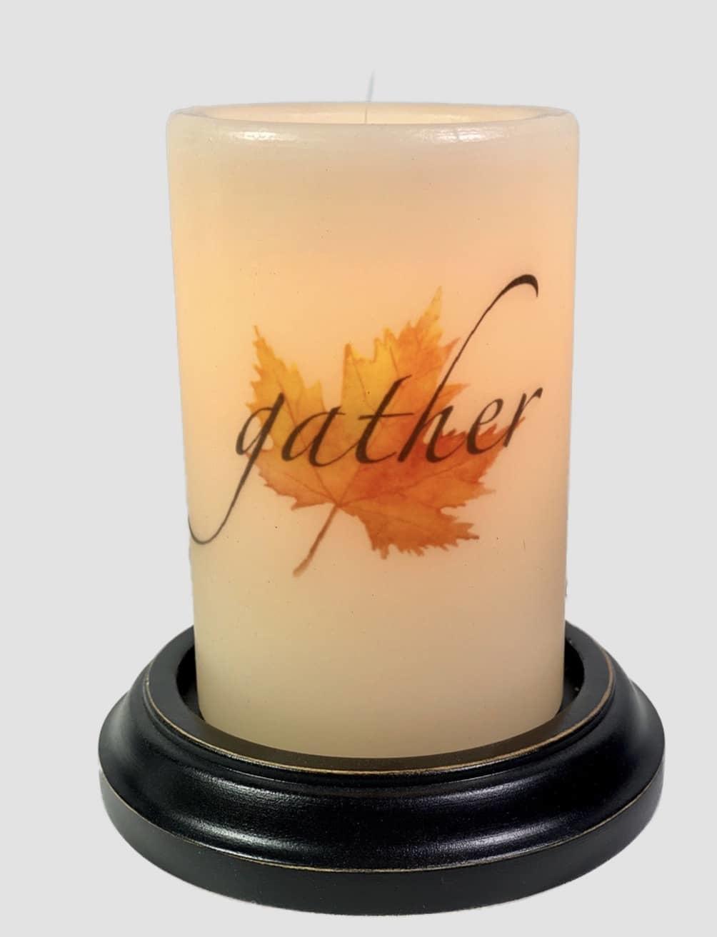 C R Designs Gather Leaf Candle Sleeve
