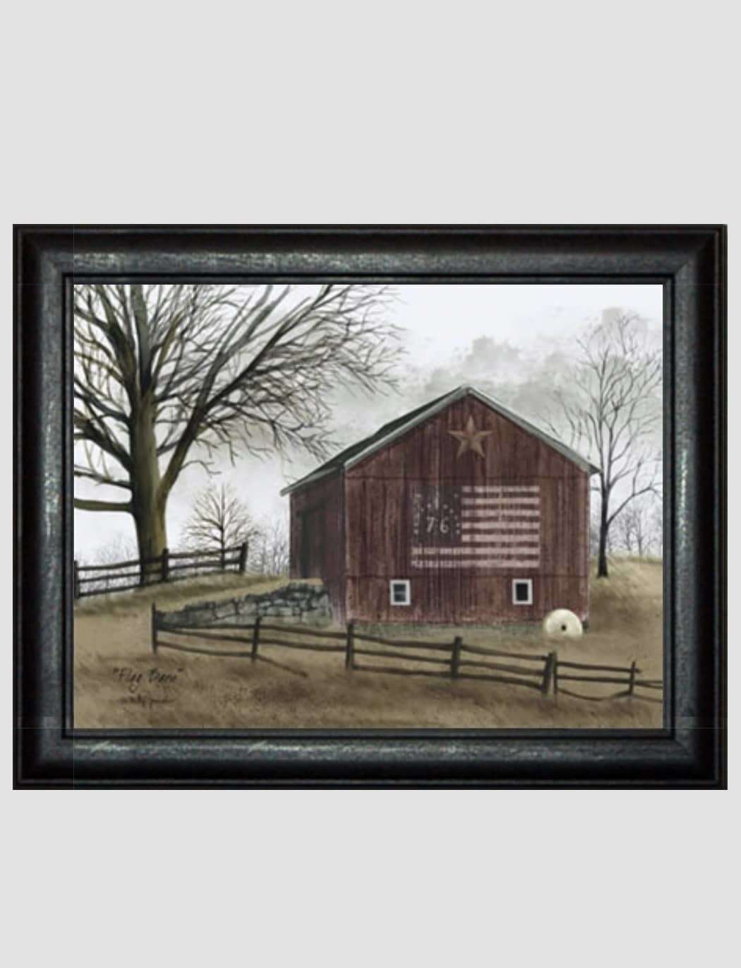 Billy Jacobs Flag Barn Print by Billy Jacobs