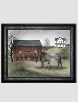 Billy Jacobs The Old Grey Mare Primitive Art by Billy Jacobs