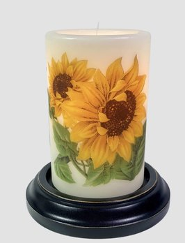 C R Designs Double Vintage Sunflower Candle Sleeve