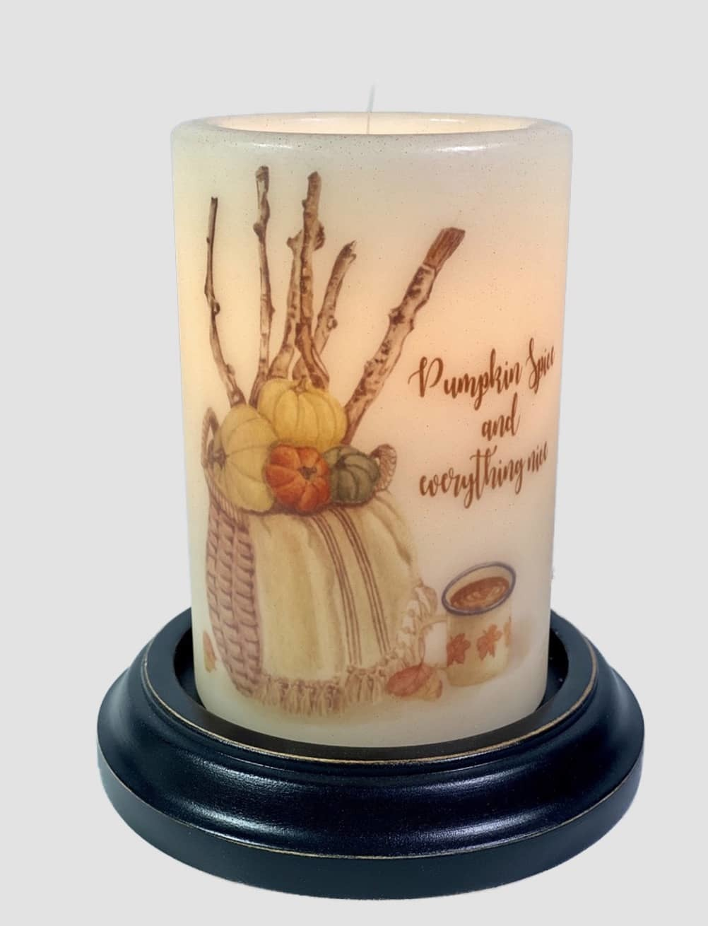 C R Designs Pumpkin Spice & Everything Nice Candle Sleeve