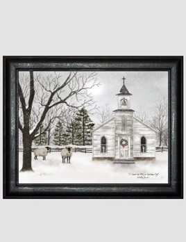 """Billy Jacobs I Heard The Bells Primitive Art by Billy Jacobs 24"""" x 32"""