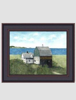 Bonnie Fisher Sail Boat Barn By Bonnie Fisher