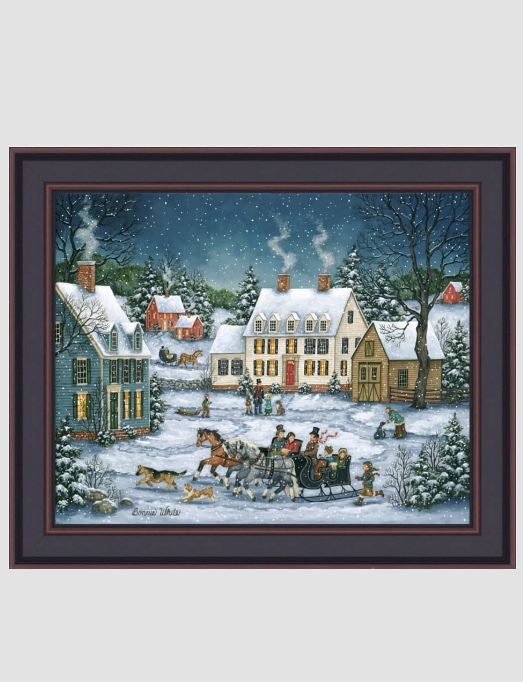 Bonnie White Dashing Through The Snow Print