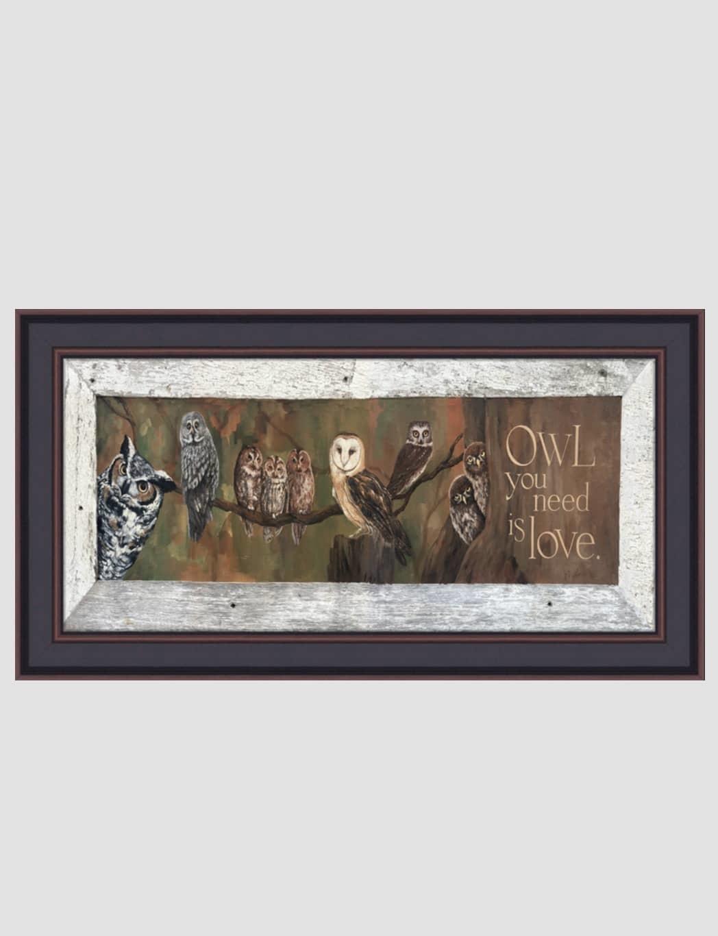 "Terri Palmer Owl Love by Terri Palmer - 12"" x 26"""