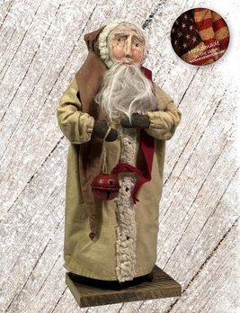 Nana's Farmhouse Primitive Santa with Bell and Cream Robe
