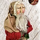 """Nana's Farmhouse Primitive Santa with Hat Boxes  and Red Robe - 19"""" T"""