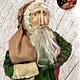 "Nana's Farmhouse Primitive Santa with Striped Stocking - 19"" T"