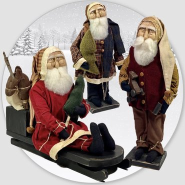 Primitive Santas from Jessica White