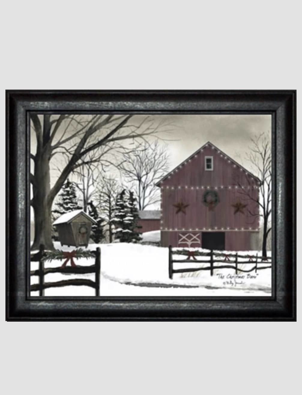 Billy Jacobs Christmas Barn Print by Billy Jacobs