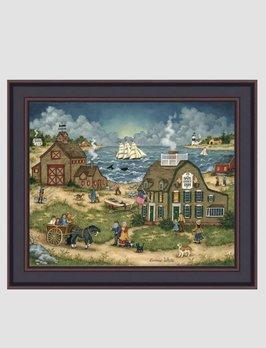 Bonnie White Safe Harbor Inn Print by Bonnie White
