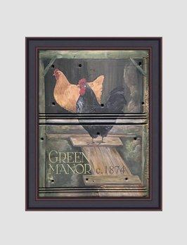 Terri Palmer Green Manor Print by Terri Palmer