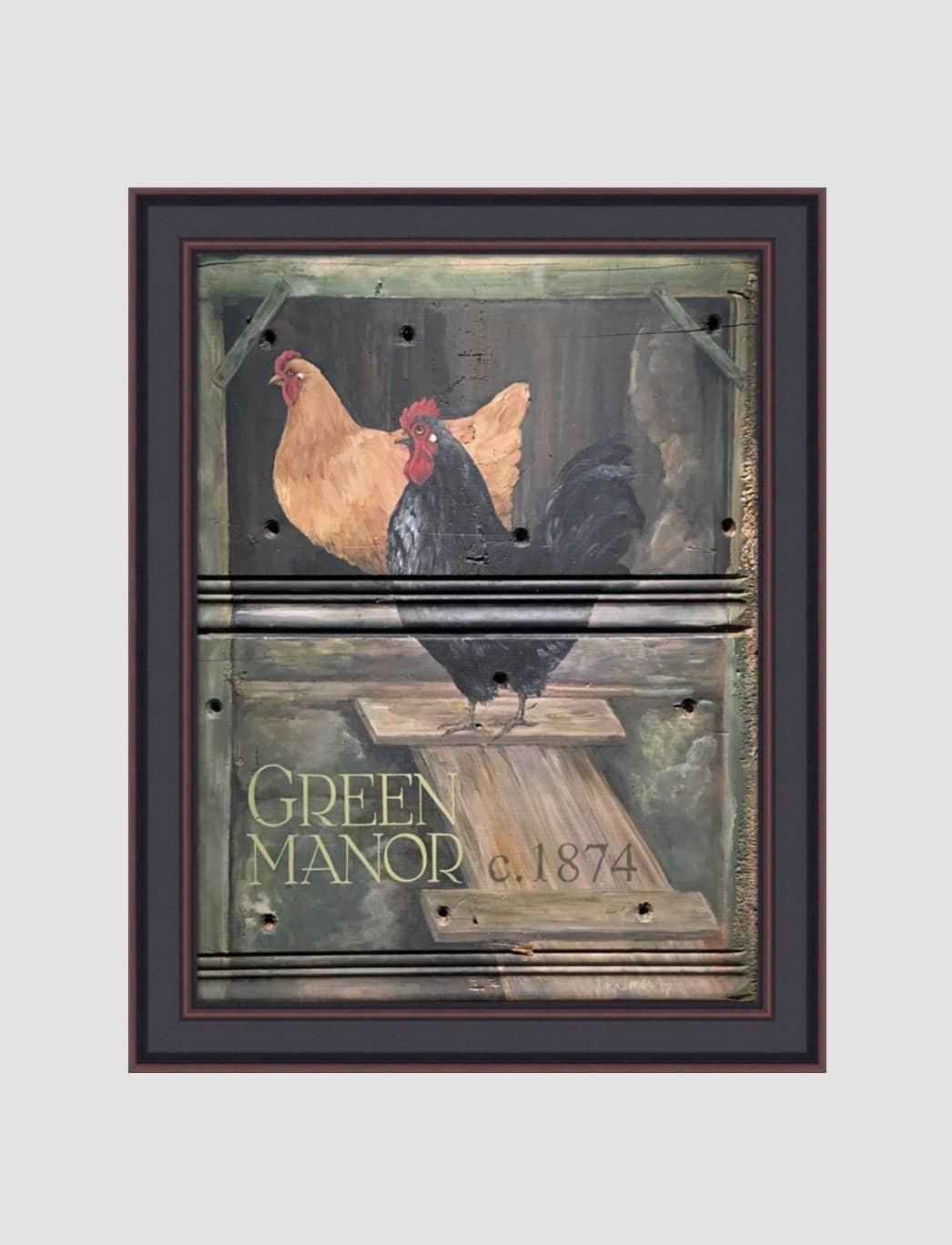 "Terri Palmer Green Manor Print by Terri Palmer - 18"" x 24"""