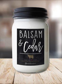 Milkhouse Candles Balsam & Cedar 13oz Milkhouse Farmhouse Jar Candle