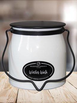 Milkhouse Candles Winter Walk 16oz Butter Jar