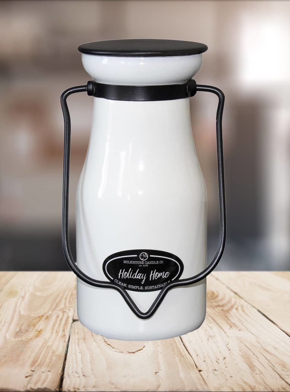 Milkhouse Candles Milkhouse Candle Holiday Home 8oz Milk Bottle