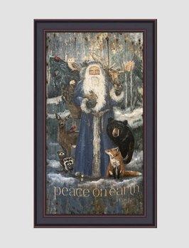 Terri Palmer Blue Santa by Terri Palmer