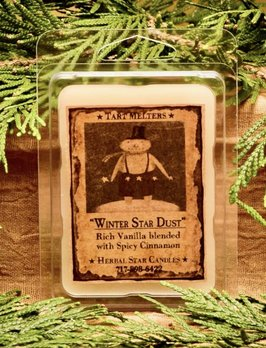 Herbal Star Candles Winter Star Dust Mini Pack of Tarts
