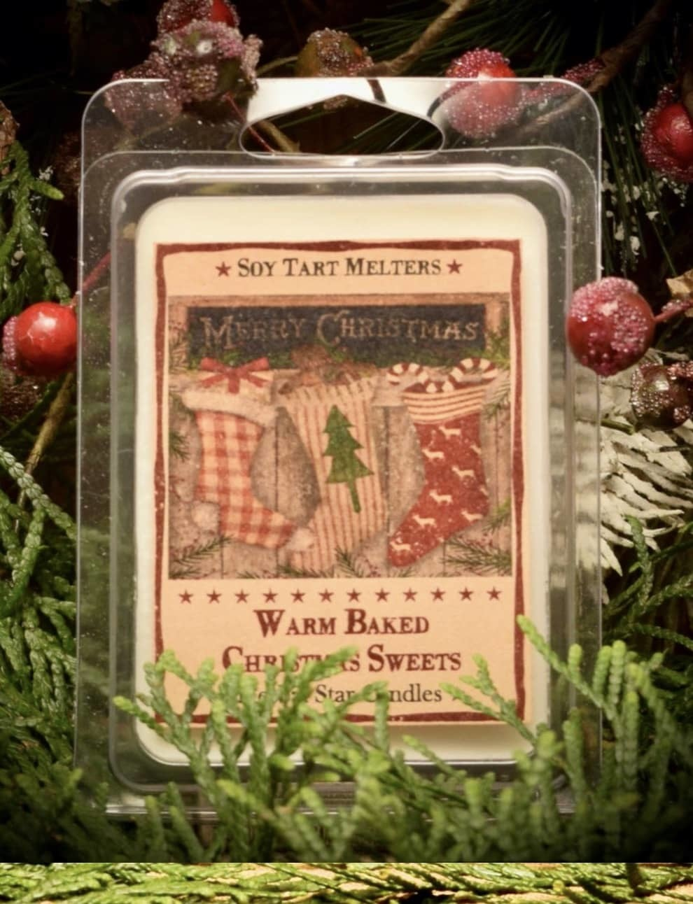 Herbal Star Candles Warm Baked Christmas Sweets Mini Pack of Tarts