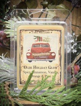 Herbal Star Candles Olde Holiday Glow Spicy Cinnamon, Vanilla, Orange & Pine Mini Pack of Tarts