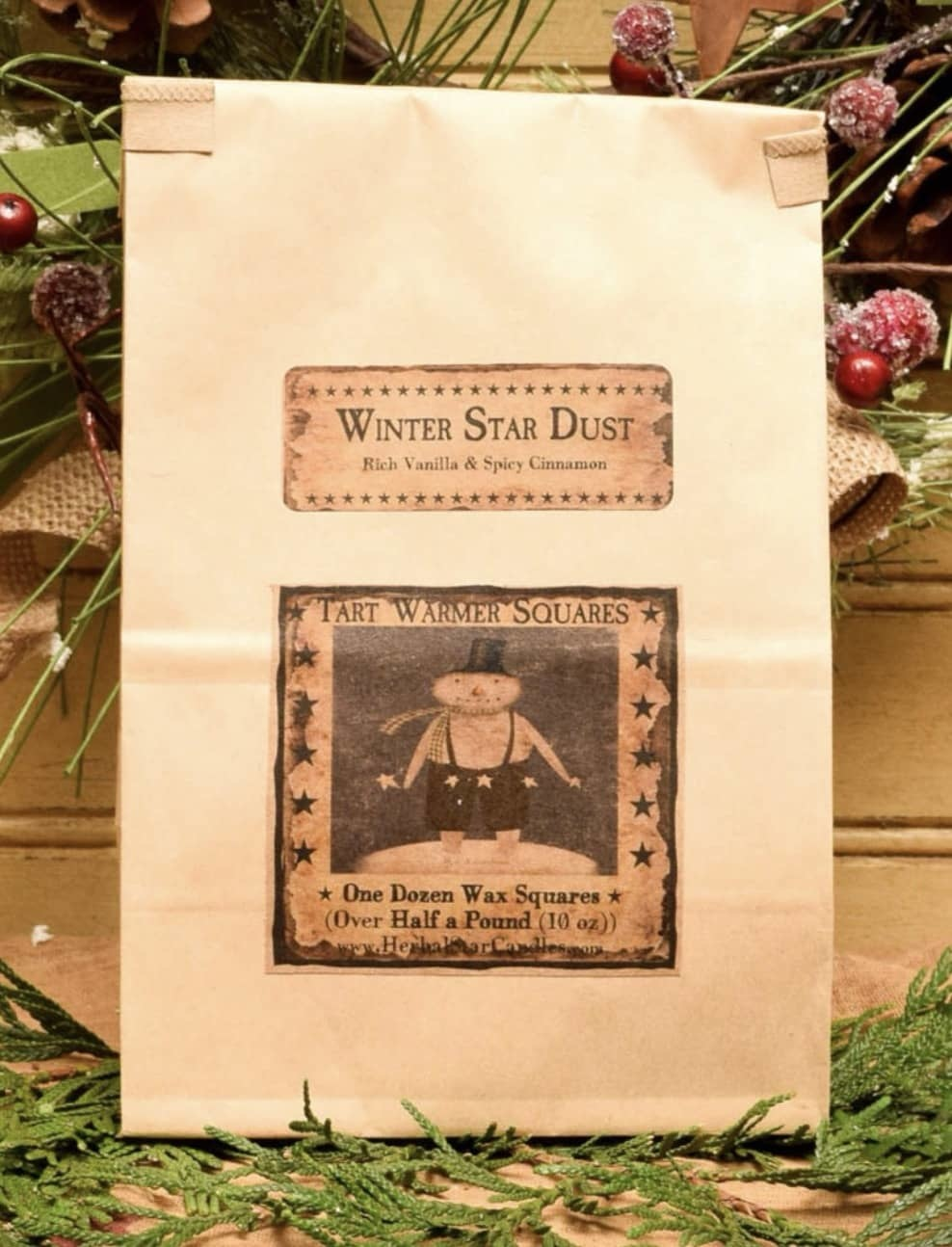 Herbal Star Candles Winter Star Dust Bag of 12 Tarts