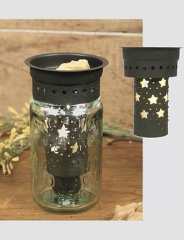 CTW Home Collection Mason Jar Punched Stars Pint Wax Warmer