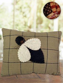 Nana's Farmhouse Black Square Bee Pillow