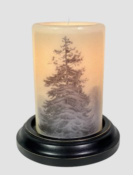 C R Designs Large Navy Spruce Candle Sleeve - Antique Vanilla