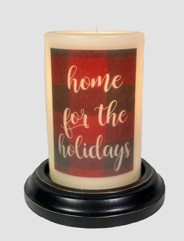 C R Designs Home For The Holidays Candle Sleeve - Antique Vanilla