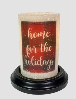 C R Designs Home For The Holidays Candle Sleeve- Gumdrop