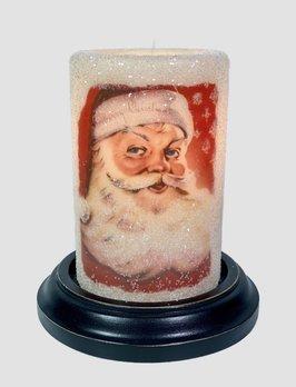 C R Designs Vintage Print Santa Candle Sleeve