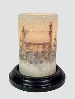 C R Designs Winter Stone House Candle Sleeve - Gumdrop
