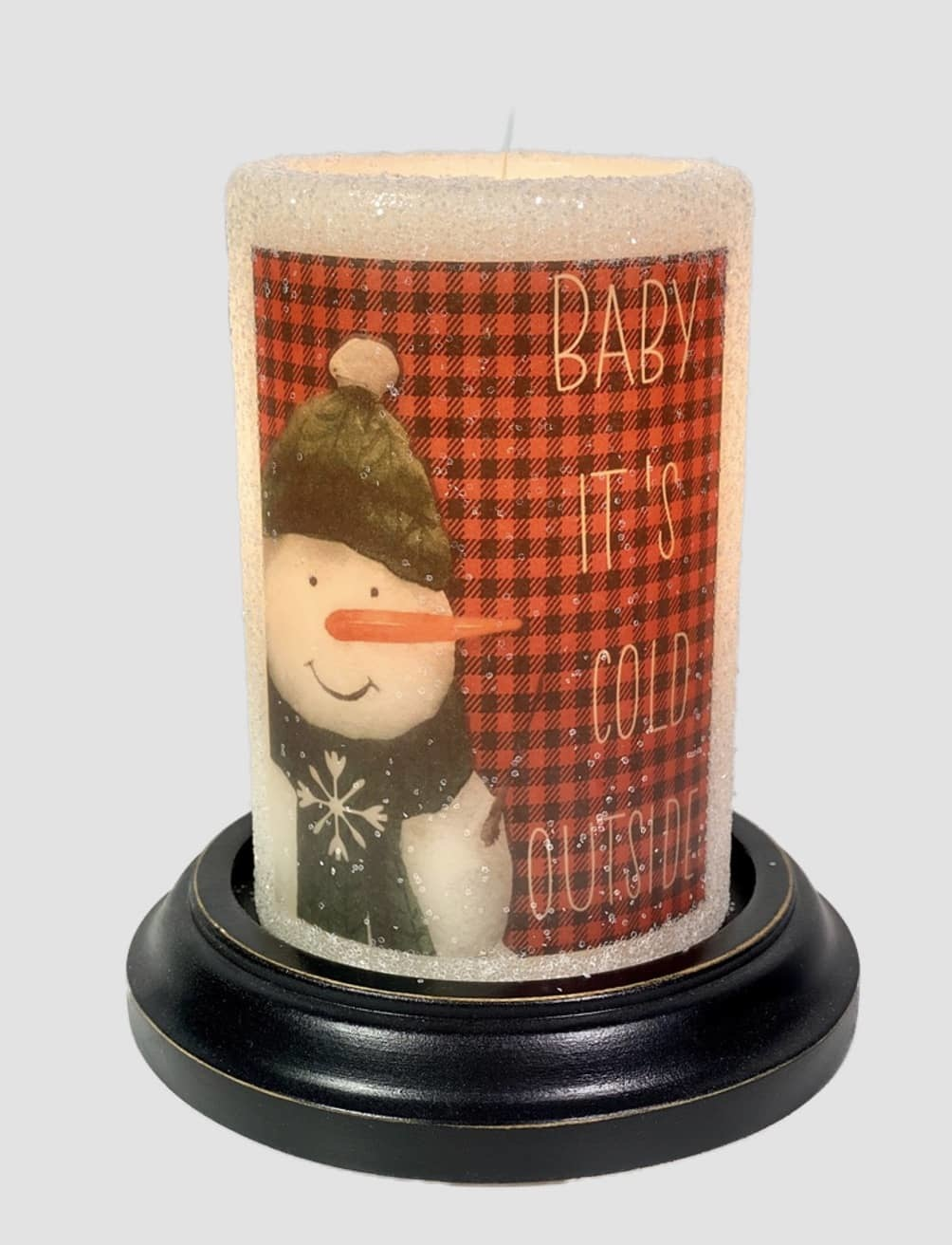 C R Designs Cold Snowman Red Candle Sleeve - Gumdrop