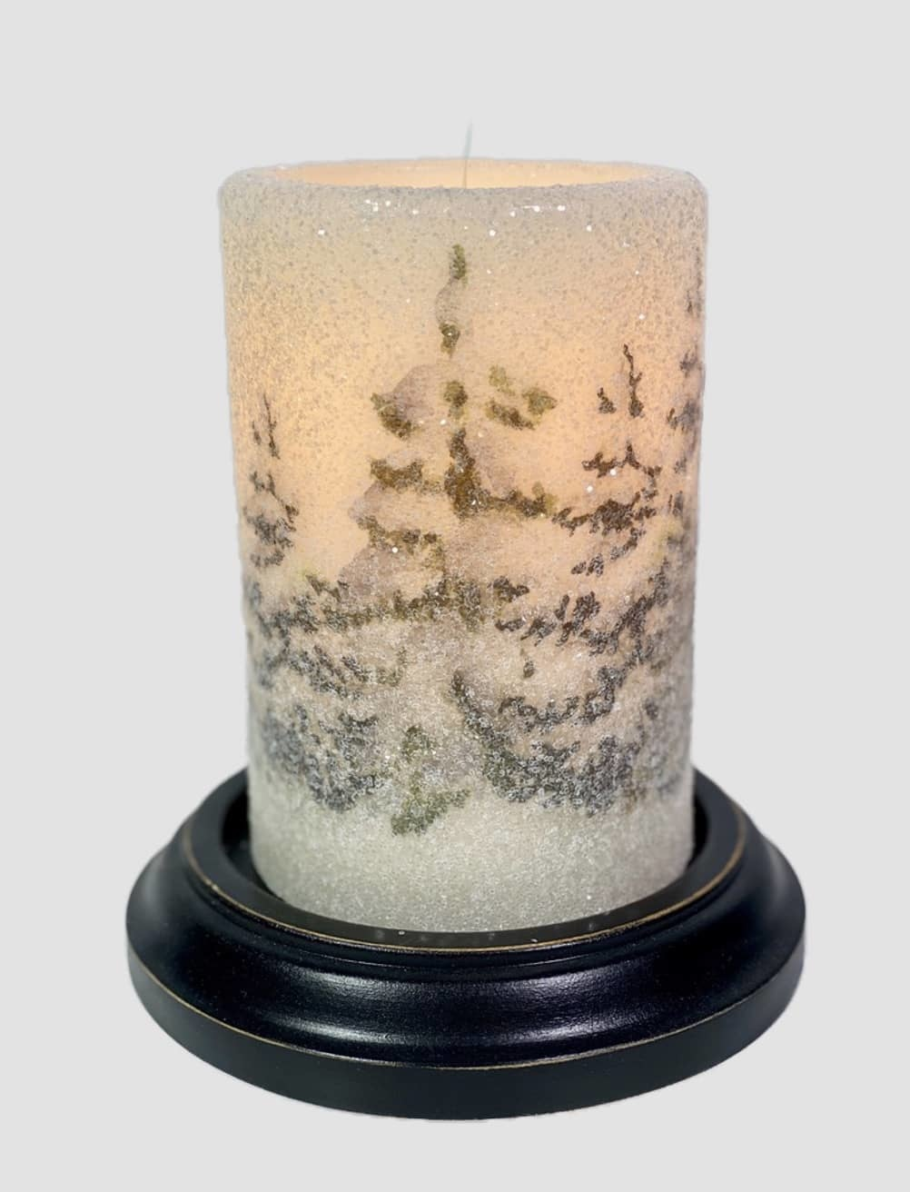 C R Designs Silent Snowfall Forest Candle Sleeve - Gumdrop